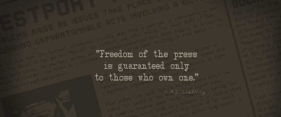 Freedom of the press is guaranteed only to those who own one.